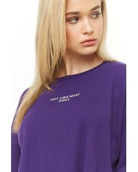 Forever 21 - Not Like Most Girls Graphic Top - Lyst
