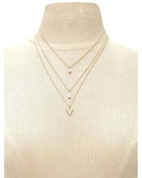 Forever 21 - Geo Charm Necklace Set - Lyst