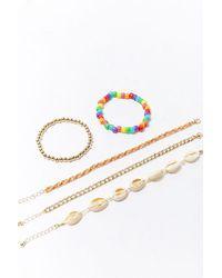 Forever 21 Assorted Bracelet Set - Metallic