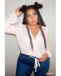 Forever 21 - Women's Plus Size Shadow Striped Bodysuit - Lyst