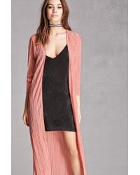 Forever 21 - Pleated Longline Cardigan - Lyst