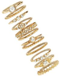 Forever 21 - Assorted Stackable Ring Set - Lyst