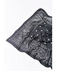 Forever 21 Celestial Bandana Print Scarf In Black/white