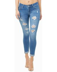 70e9cc57cf4 Forever 21 Life In Progress™ Skinny Jeans in Black - Lyst