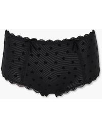 Forever 21 Heart Print Mesh Panties - Black