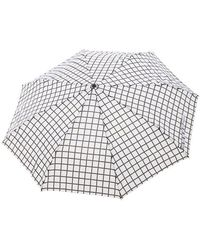 Forever 21 Grid Print Umbrella - White