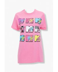 Forever 21 Mtv Graphic Tee - Pink