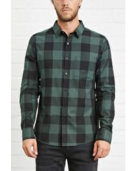 Forever 21 - Slim-fit Check Shirt - Lyst