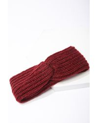 Forever 21 Ribbed Twist-front Headwrap - Red