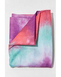 Forever 21 Tie-dye Wash Scarf In Purple