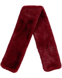 Forever 21 Faux Fur Stole , Burgundy - Red