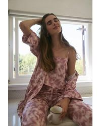 Forever 21 Satin Cloud Wash Robe - Pink
