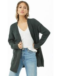Forever 21 - Open-front Boucle Cardigan - Lyst