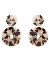 Forever 21 - Tiered Disc Drop Earrings - Lyst