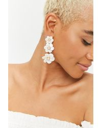 Forever 21 - Tiered Floral Earrings - Lyst