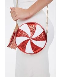 Forever 21 Peppermint Candy Crossbody Bag - Red