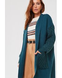 Forever 21 Combo Open-front Cardigan - Blue