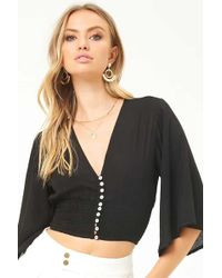 4ca97264ae99e7 Forever 21 Off-the-shoulder Layered Top in Black - Lyst
