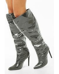 Forever 21 Over-the-knee Covered Boots - Black