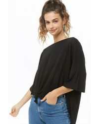 Forever 21 - Knotted High-low Top - Lyst