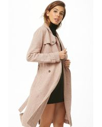 Forever 21 - Women's Houndstooth Trench Coat - Lyst