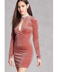Forever 21 - Velvet Rhinestone Choker Dress - Lyst