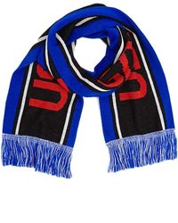 Forever 21 Colorblock Nasa Graphic Scarf - Blue