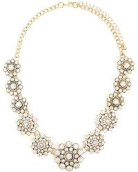 Forever 21 - Clustered Rhinestones Statement Necklace - Lyst