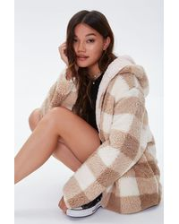 Forever 21 - Reversible Faux Shearling Hooded Co - Lyst