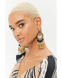 Forever 21 - Ornate Tassel Drop Earrings - Lyst