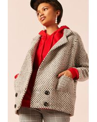 Forever 21 - Frnch Double-breasted Geo Coat - Lyst