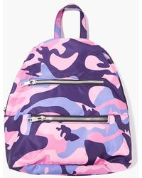Forever 21 Camo Print Backpack - Purple
