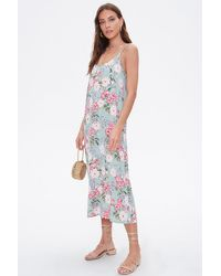 Forever 21 Floral Print Cami Maxi Dress - Multicolour