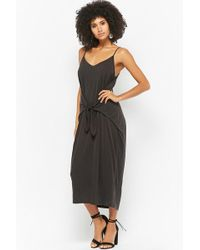 Forever 21 - Tie-front Maxi Dress - Lyst