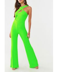 Missguided Crisscross Strap Jumpsuit At , Lime - Green