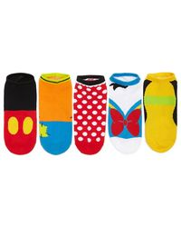 Forever 21 - Assorted Disney Graphic Ankle Socks - 5 Pack - Lyst