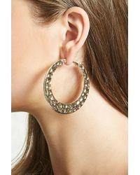 Forever 21 | Hammered Hoop Earrings | Lyst