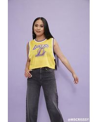 Forever 21 Los Angeles Lakers Cropped Jersey - Yellow