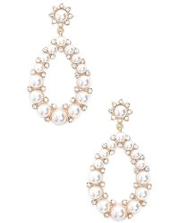 Forever 21 - Faux Pearl Drop Earrings - Lyst