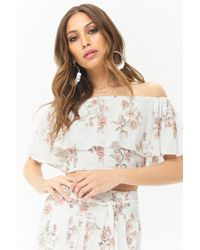 Forever 21 - Anm Off-the-shoulder Floral Top - Lyst