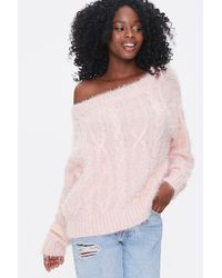 Forever 21 Fuzzy Bo - Pink