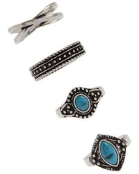 Forever 21 - Faux Stone Ring Set - Lyst