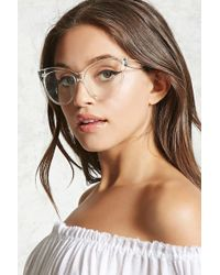 Forever 21 - Clear Cat Eye Readers - Lyst