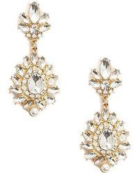 Forever 21 - Rhinestone Cluster Drop Earrings - Lyst