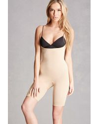 Forever 21 Firming Shapewear Romper - Natural