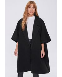 Forever 21 Open-front Cocoon Co - Black