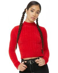 Forever 21 - Fuzzy Ribbed Knit Sweater - Lyst