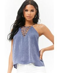 Forever 21 - Caged Racerback Cami - Lyst
