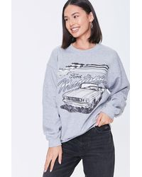 Forever 21 Ford Mustang Graphic Sweatshirt - Gray