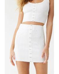 Forever 21 - Ribbed Mini Skirt - Lyst